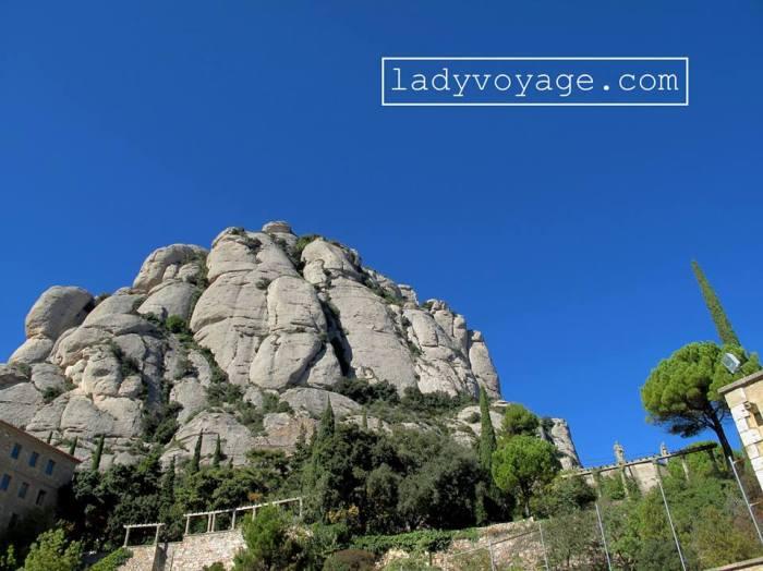 View from mountain-based Montserrat monastery near Barcelona, Spain