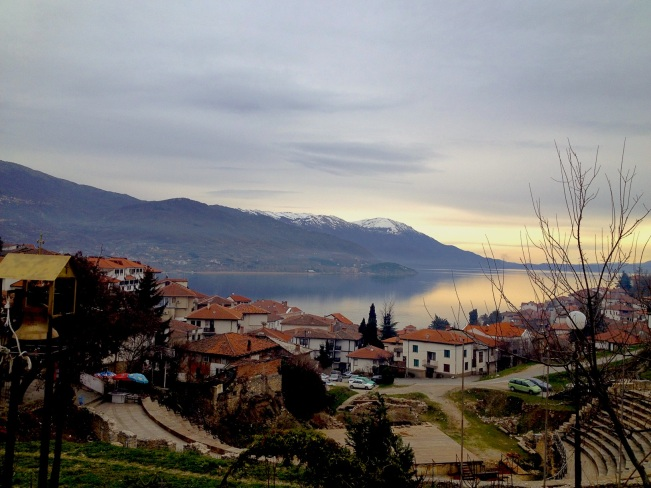 Views of Lake Ohrid from the Old part of the town