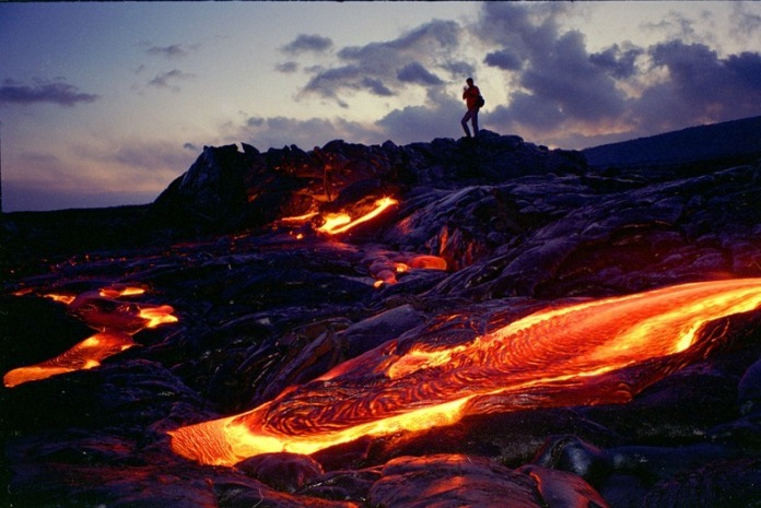 Burning lava tours in Hawaii. Photo borrowed from Amusingplanet.com