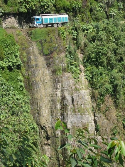Death Road in Bolivia - the most dangerous route in the world. Photo borrowed from Bestourism.com